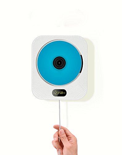 RoomClip商品情報 - AGPtEK ECI-ILIFE 【第10代】 CDプレーヤー 壁掛け式 スピーカー LCDスクリーン リモコン付き CD/Bluetooth/FM/USB/TF/Audioモード(ホワイト)