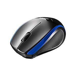 BUFFALO 無線(2.4GHz)BlueLEDマウス 静音/3ボタン ブルー BSMBW28SBL