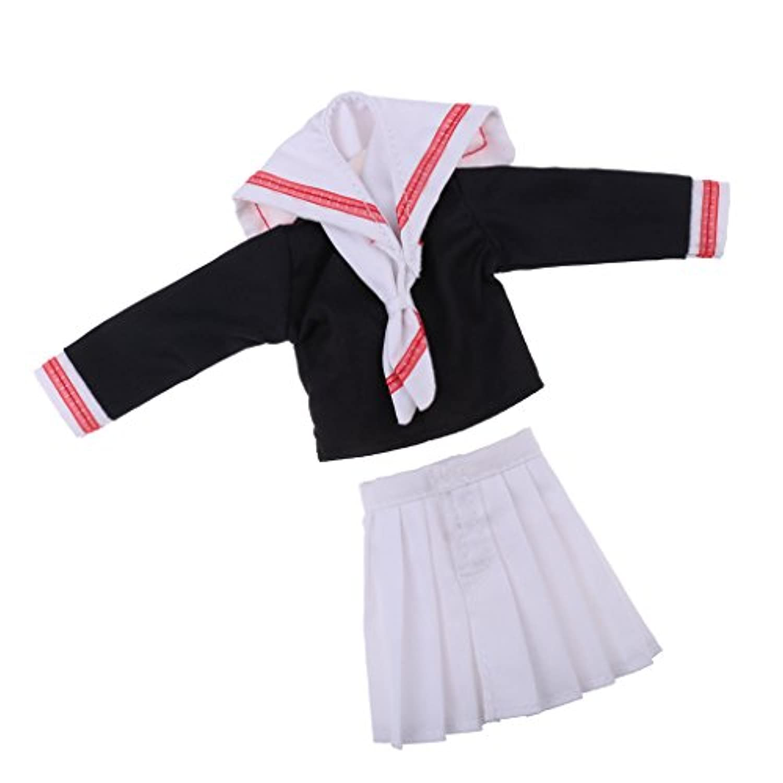 Baoblaze 高品質 ブライス アゾン リカドール人形のため 1/6スケール ネイビーセーラー服