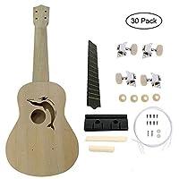 Fenghong Diy組み立てウクレレ、21インチウクレレ中空木製ウクレレアコースティックギターウクレレ初心者用セット - #1、イルカ