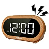 ヤバエ(Yabae) 置き時計 木目調 15×4.5×7.5cm AL-01-MN