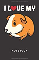 Notebook: Meerschwein | Notizbuch | Notizheft | Schreibbuch | Meerschweinchen | Hamster | Schwein | 110 Seiten | Punkteraster | Punkte | Liebe