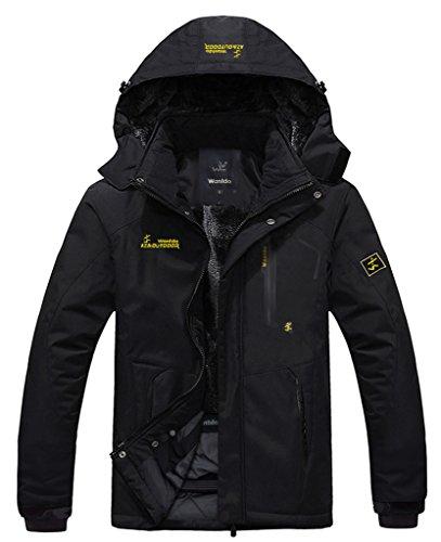 WantDo防水性ハードシェル メンズ アウトドアジャケット スキーウェア 裏ボアフリース防寒防風対策