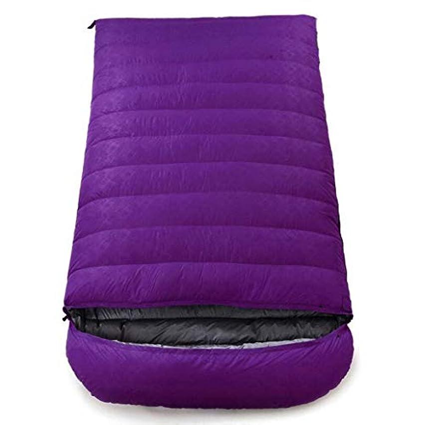 トピック重量ダルセットアウトドアアダルトキャンプ用寝袋フォーシーズン登山封筒ダブルウルトラライトダウン寝袋 (Capacity : 5.5kg, Color : Purple)
