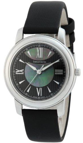 [ティファニー]Tiffany&Co. 腕時計 Mark ブラック/ブラックパール文字盤 サテンベルト Z0046.17.10A90A40A レディース 【並行輸入品】
