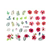 ネイルシール ビビッドボタニカルシール ボタニカル 草花 フラワー リーフ 南国 トロピカル サマー 夏