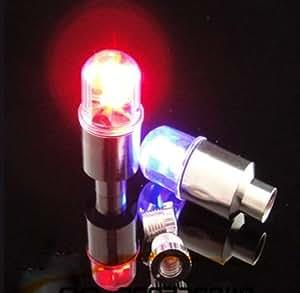 自転車/バイク ホイール LED センサー ライト 2点セット カラー:レインボー