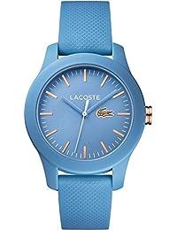 LACOSTE [ラコステ] 2001004 アナログ 38mm ボーイズサイズ レディース ウォッチ 腕時計 防水 軽量 クロコダイル ラバーベルト ライトブルー 水色 ローズゴールド [並行輸入品]