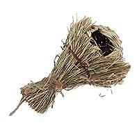 F Fityle 自然的な ペットグラスの洞窟 野鳥用巣箱 環境にやさしい 可愛い 実用性 A:Bothy