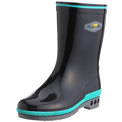asahi shoes (アサヒシューズ) JUNIOR(キッズ用/ジュニア用/子供用) 長靴 マリンボーイ 11 2E 【ブラック/グリーン】 18.0cm