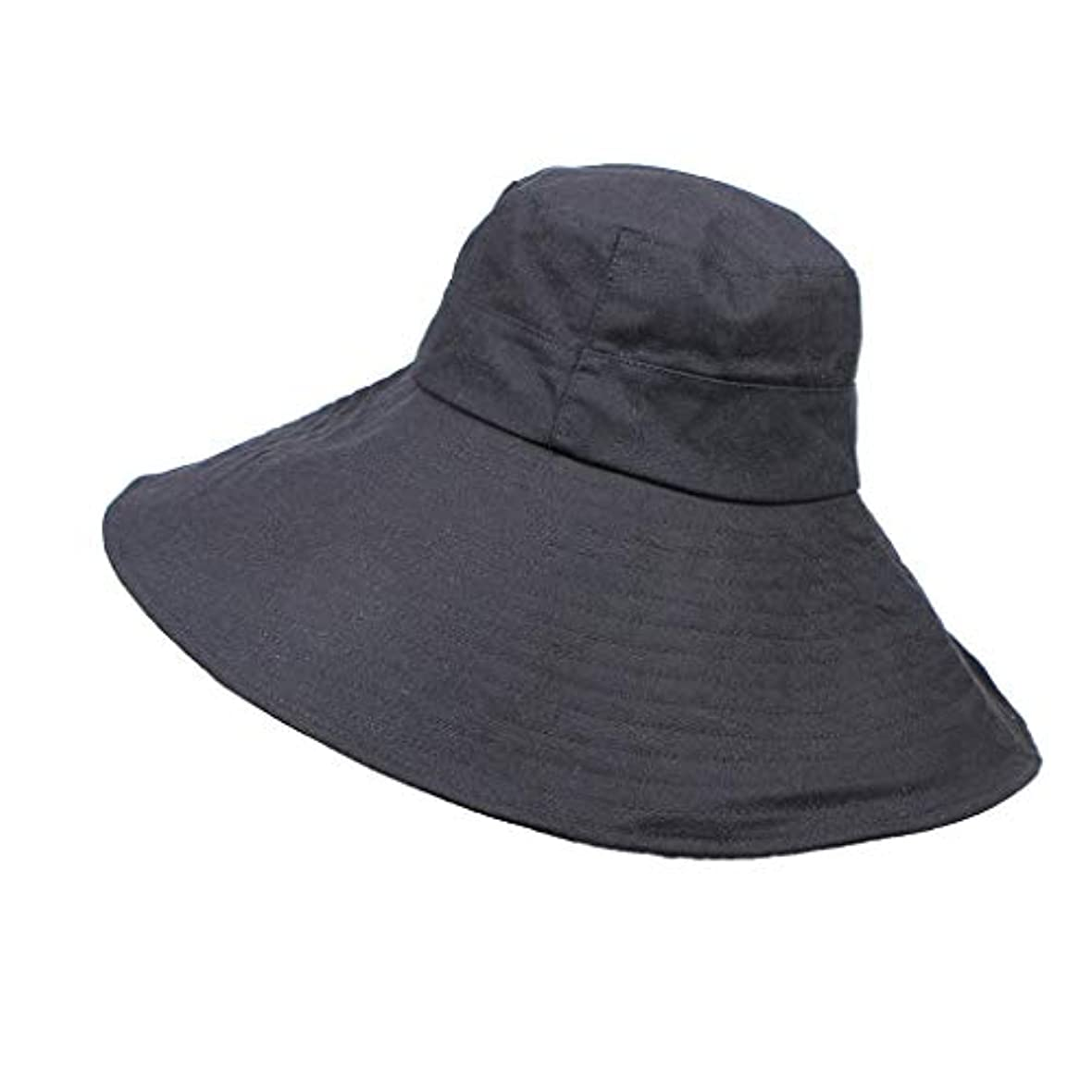 帽子 ハット 女性の春と夏の帽子折りたたみワイドつばフロッピーキャップ日漁師の帽子