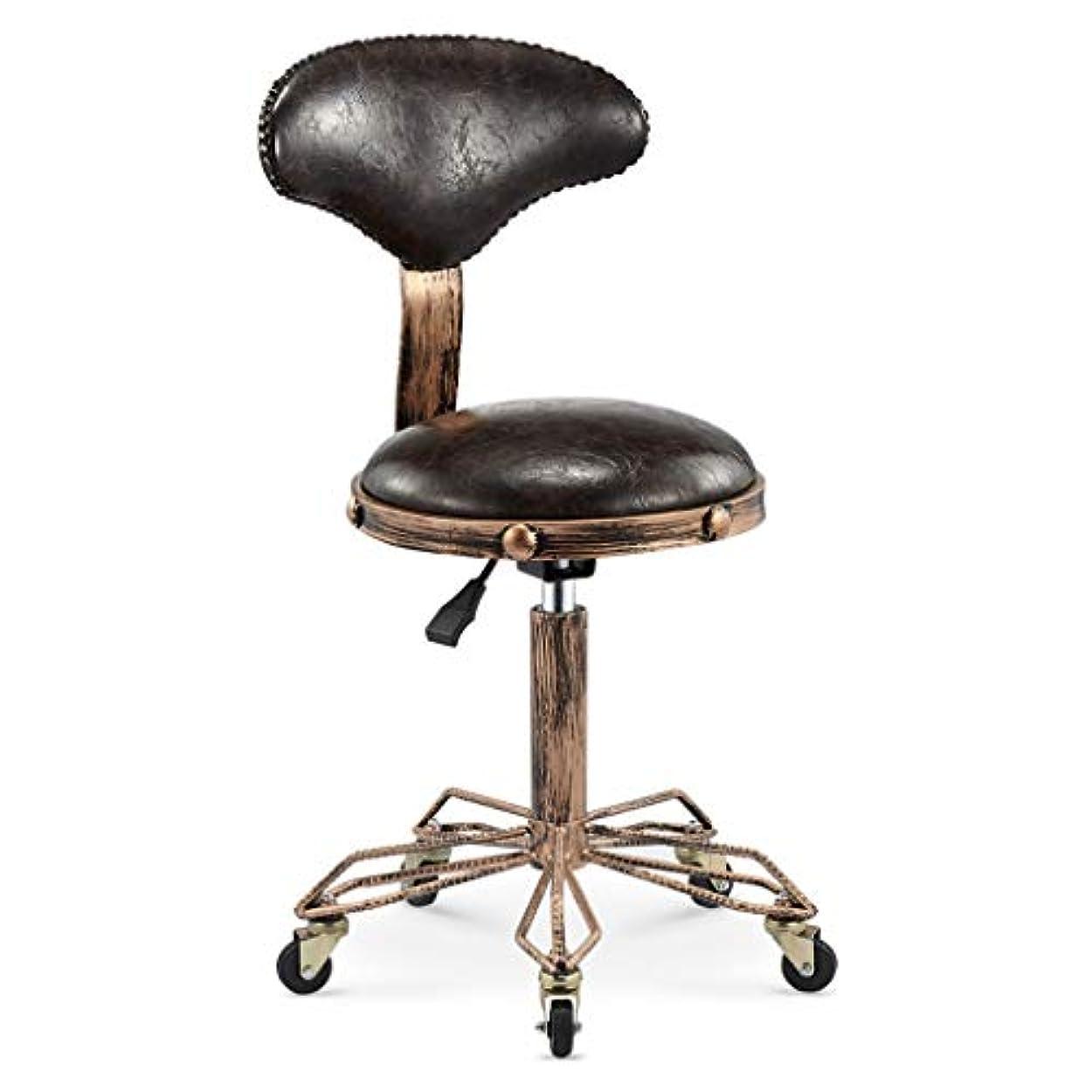 生き残ります揺れるプログラム回転椅子-美容スツール理髪店の椅子ヘアサロンロータリーリフトスツールメイクヘアサロンプーリーチェア散髪 (Color : Crack brown)