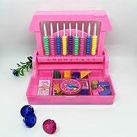 幼児期のゲーム インテリジェンスボックス2 in 1児童学習カウンター(ピンク)
