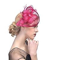 女性のエレガントなカクテルハット、女の子の魅惑的なヘアークリップ-コスチュームパーティー、結婚式、教会、カクテルパーティーに適しています