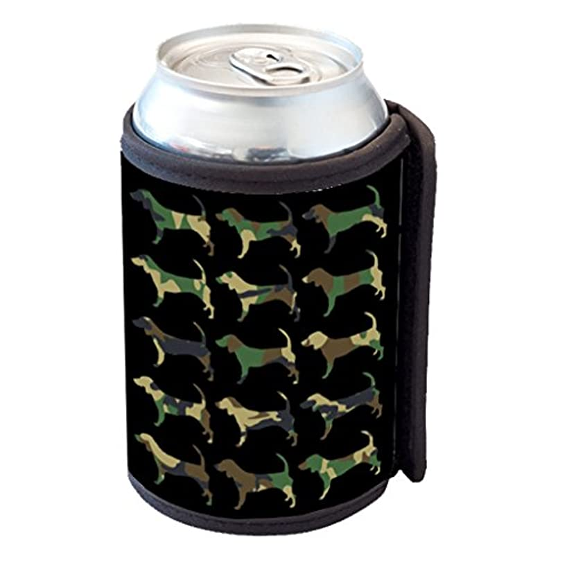 簿記係キャンドル服を洗うBloodhound Camoflauge – Can Cooler Bottle Hugger