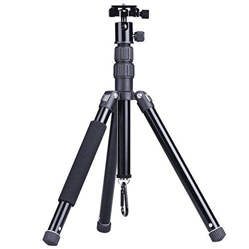 CHIHEISENN カメラ三脚 ビデオカメラ三脚 コンパクト 縮長28cm 最大135cm 軽量 約750g ミラーレス一眼 スマホ コンデジ トラベル 旅行 自由雲台 中心軸反転 5段伸縮