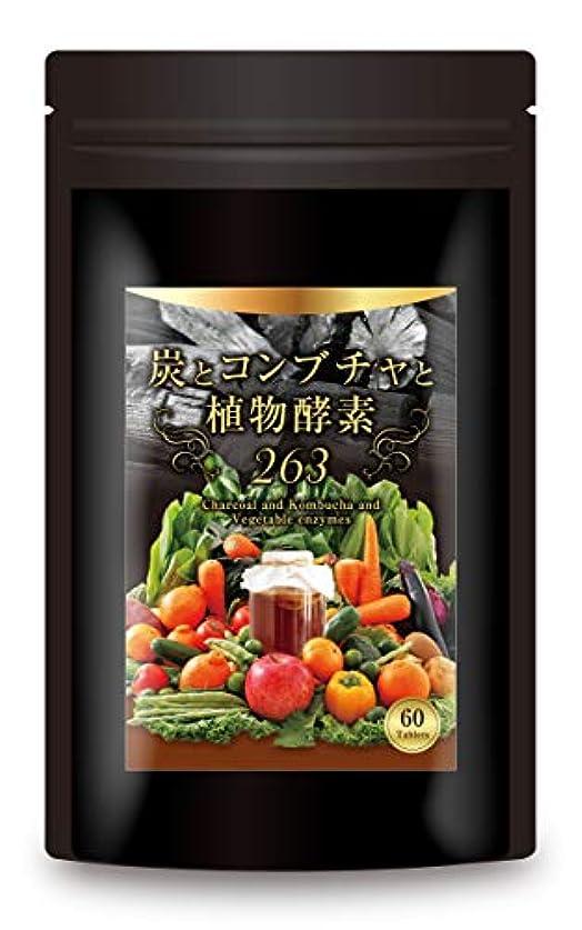 ゼロ葉っぱエンコミウム炭とコンブチャと植物酵素263種 炭ダイエット 5種の純炭 チャコール コンブチャ 乳酸菌 サプリメント 30日分