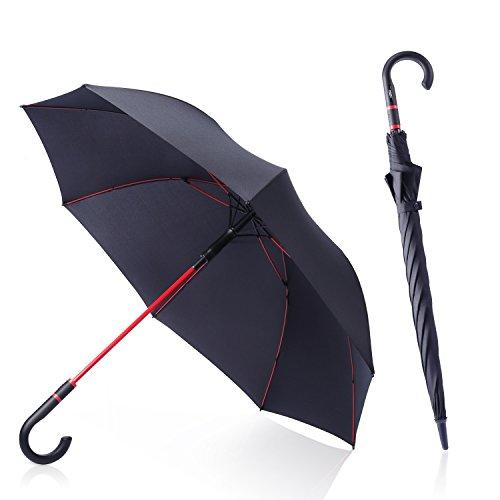 anngrowy 長傘 メンズ レディース ゴルフ用長傘 紳士傘 高強度グラスファイバー傘骨耐風...