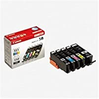 Canon・キヤノン・インクカートリッジ・純正・-BCI-351+350/5MP-・5色パック-ブラック×2・シアン・マゼンタ・イエロー-