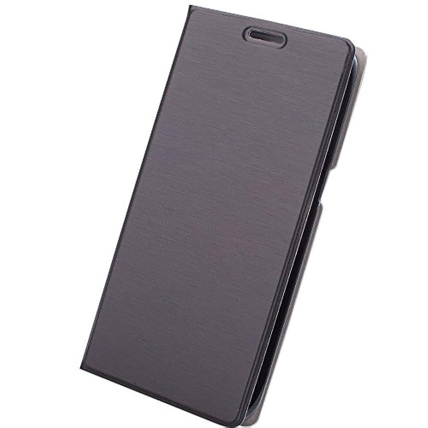 対応スラムエキスパート【F-grip】 iPhone6 ケース / iPhone6s ケース 薄い 手帳型 カバー カードポケット スタンド機能 (iphone6 / iphone6s, ブラック)