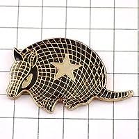 限定 レア ピンバッジ アルマジロ動物テキサス星/USAアメリカ ピンズ フランス