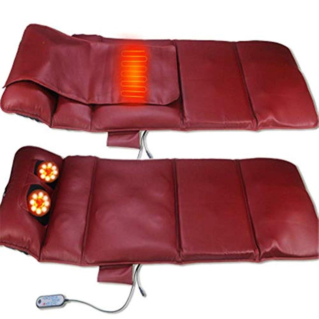 フィットネス裁定ベスビオ山リラックス健康マットレス電気マッサージマット暖房理学療法ボディの痛みを軽減するマッサージマットエアバッグマッサージマットレス,ブラウン