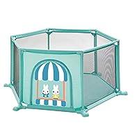 ベビーサークル 赤ちゃんの遊び場の幼児のプレイヤードの家庭用ゲームのフェンス屋内遊び場幼児の安全フェンス、6パネル