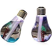卓上加湿器 超音波式 大容量400ml加湿器 ペットボトル クリエイティブ電球加湿器 LED搭載7色変換 静か 乾燥防止空焚き防止 ミニUSBオフィス家庭用