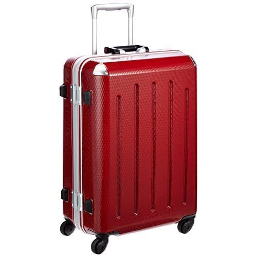 [プラスワン] PLUS ONE 軽量スーツケース RE:STYLE 54L 4.4kg 2泊~5泊対応 4輪 ヒノモト静音キャスター ポーチ・ハンガー1個付き 380-56 blazing RED (ブレイジングレッド)