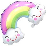 Baosity バルーン 風船 笑顔 虹 雲 クラウド レインボー 壁掛け 装飾 子供 玩具 おもちゃ 可愛い プレゼント