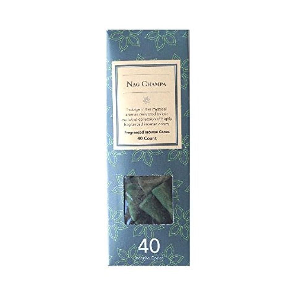 コットン限定磨かれたFlora Classique Nag Champa Fragranced Incense Cones、40-ct。パック