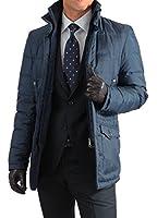 メンズ スタンドカラー ダウンジャケット ( ブラック ・ ネイビー ・ ベージュ 3色 )