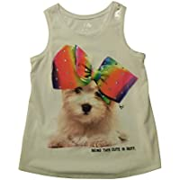 Justice Girls Being This Cute is Ruff Tank top - Size 12 White