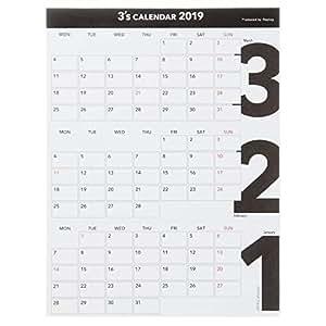 リプラグ 2019年 カレンダー 卓上 スリーズ A19-210