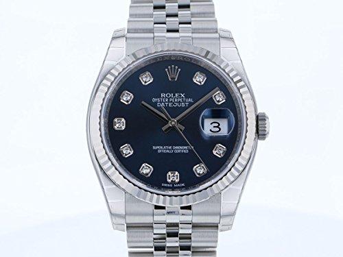 ロレックス デイトジャスト 116234G ブラック文字盤 メンズ 腕時計 新品 [並行輸入品]