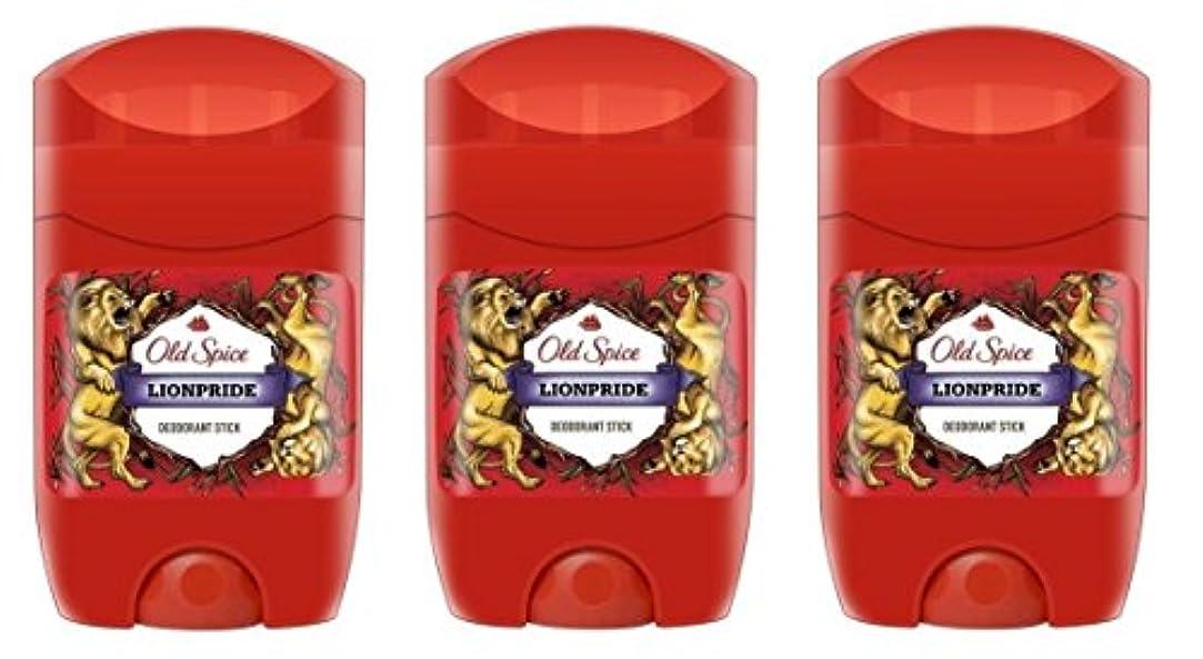 関税うがい対話(Pack of 3) Old Spice Lionpride Deodorant Solid Stick for Men 3x50ml - (3パック) オールドスパイスライオンプライドデオドラントソリッドスティックメンズ...