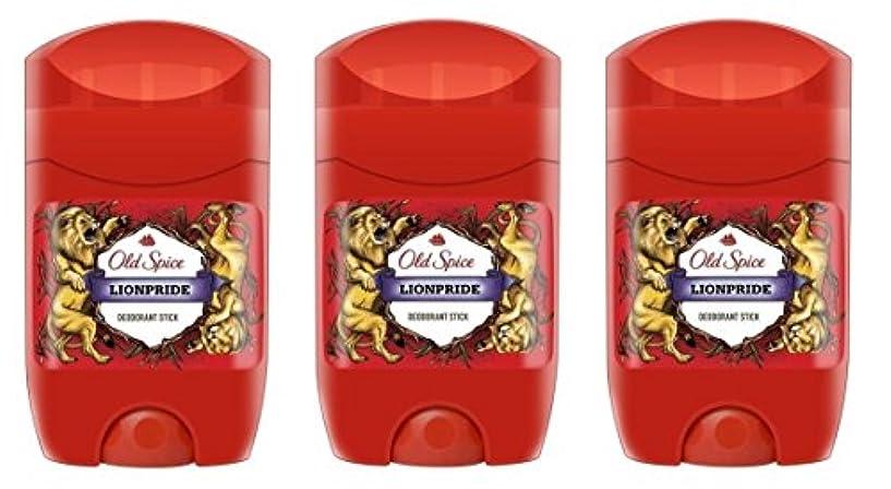 経度討論慢(Pack of 3) Old Spice Lionpride Deodorant Solid Stick for Men 3x50ml - (3パック) オールドスパイスライオンプライドデオドラントソリッドスティックメンズ...