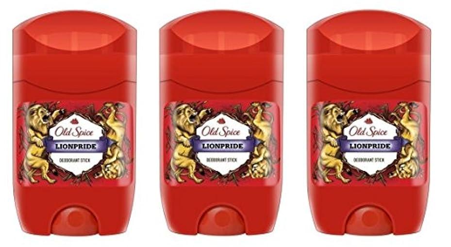 元気誕生日ソフトウェア(Pack of 3) Old Spice Lionpride Deodorant Solid Stick for Men 3x50ml - (3パック) オールドスパイスライオンプライドデオドラントソリッドスティックメンズ...