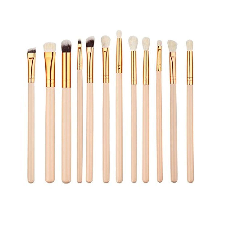 主張脅かす福祉ELECOOL 12pcs Eye Makeup Brushes Kit Women Eyeshadow Powder Eyeliner Blending Brush Eye Shadow Brushes
