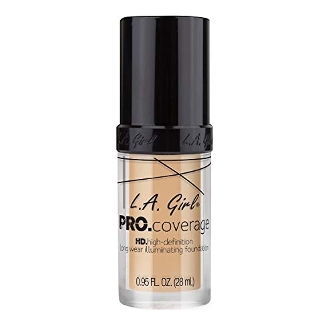 ラベチップ送信する海外直送品 L.A. Girl Pro Coverage Liquid Foundation 28ml, Fair