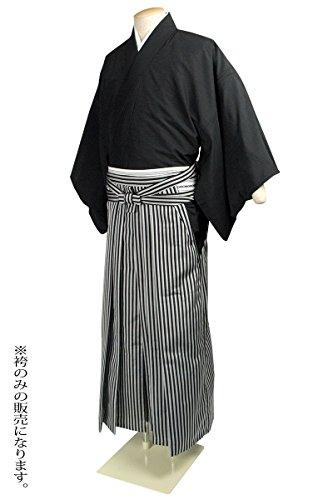 (キョウエツ) KYOETSU 結婚式 成人式 メンズ洗える馬乗り袴 男性 縞柄 (L)