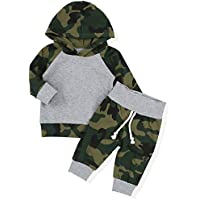 d43e96422e3d NewZhu Toddler Infant Baby Boy Camouflage Clothes Hooded T-Shirt Tops +  Pants Outfit Sets