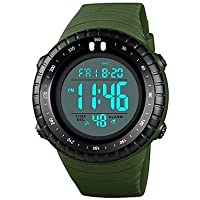 Men's Couple's Wrist Watch Digital Watch Digital Quilted PU Leather Black/Red/Green 50 m Water Resistant/Waterproof Calendar/Date/Day Stopwatch Digital Analog - Digital Casual Fashion