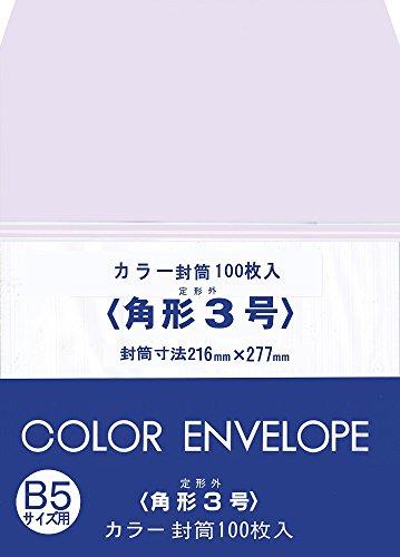 スズキ紙工業 封筒 カラー 角形3号 100枚 KK3-100P-WH  ホワイト