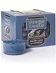 Yankee Candle 暖かい豪華なカシミアティーライトキャンドル フレッシュな香り