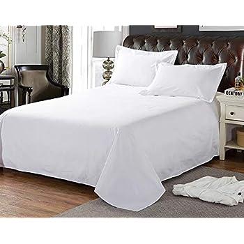 綿100%フラットシーツシングルサイズ150x250cm、白ホワイト、業務用、ホテル用、温泉旅館用、民泊用、家庭用