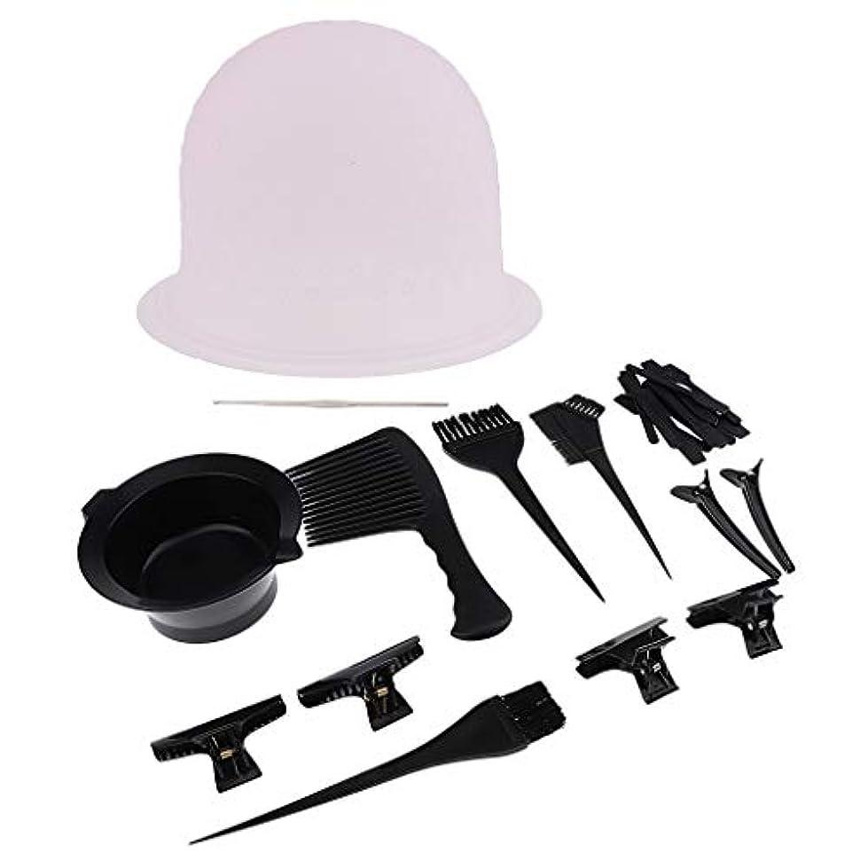 キリンイディオム装置ヘアダイブラシ ヘアダイカップ コーム ヘアクリップ 毛染めツール ヘアカラー用品
