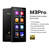 "FiiO M3 Pro MP3 Player, High Resolution and 3.5"" Full Touchscreen HiFi Lossless Sound Player with Voice Recorder, E-Book,Supports up to 2TB,Black"