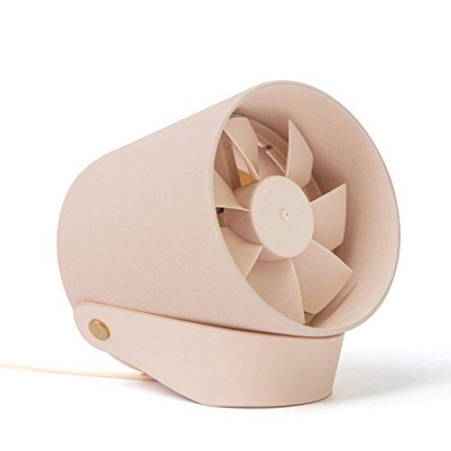 【2017年最新版】Relohas ミニ扇風機 USB扇風機 二重羽根反転 卓上扇風機 タッチスイッチ USB充電 風量2段階調節 静音 クリエイティブ付き 卓上/オフィスなど使用可能 ピンク