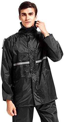 WARMQ レインウェア 通湿性 着脱式合羽 レインスーツ 高品質 快適 二重構造帽子 防水レインコ...